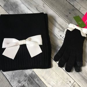 Kate Spade Scarf and Glove Bow Set
